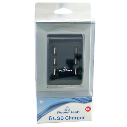 Φορτιστής POWERTECH 6 Ampere - 6 x USB